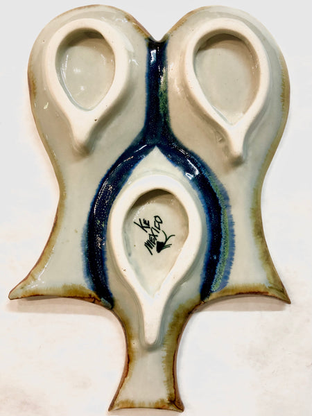 Ken Edwards Pottery Triple Spoon Holder (KE.U6)