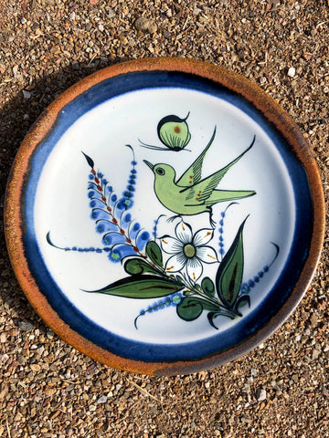 Hand Painted Mexican Bread Plate