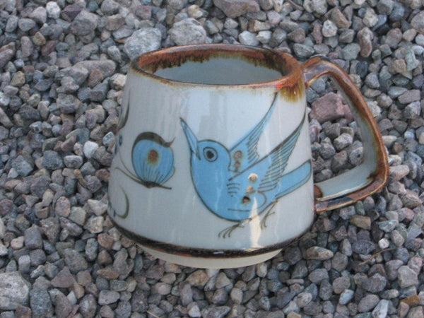 Ken Edwards Mug, T 7 with bird and butterfly on exterior