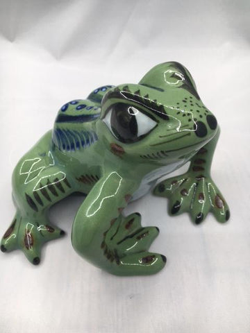 Ken Edwards Pottery Frog in stoneware from Mexico