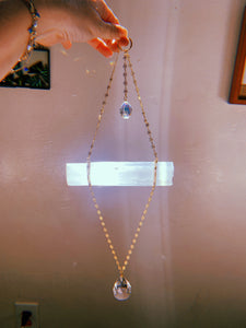Selenite Bliss suncatcher