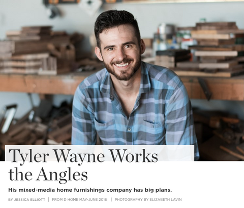 "Wayne Works in D Magazine - ""Tyler Wayne Works the Angles"""
