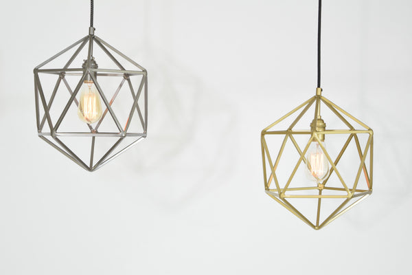 "12"" Mercedes Icosahedron Pendant Light"