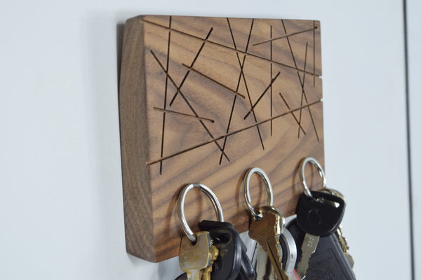 Modern Magnetic Key Holder - Selenite - Side View | Wayne Works