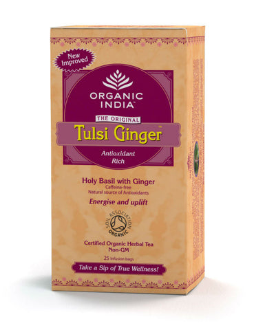 Organic India Ginger Tea Original 25 Tea Bags