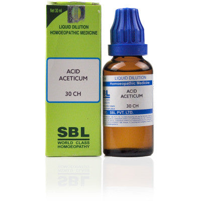 2 x SBL Acid Aceticum 30 CH 30ml each - alldesineeds