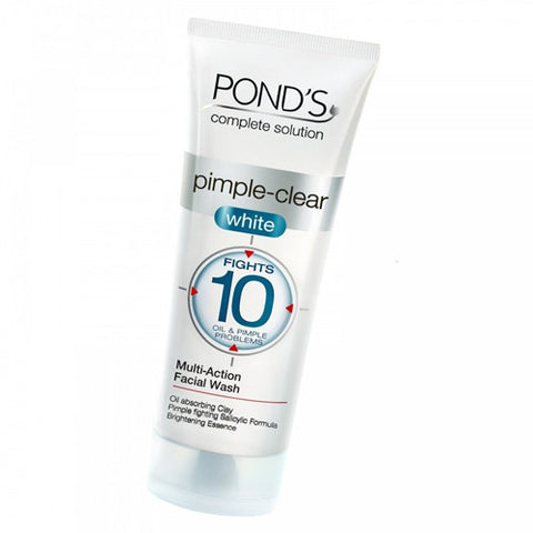 Buy Ponds Pimple Clear White Multi Action Facial Wash 100 gms online for USD 7.99 at alldesineeds