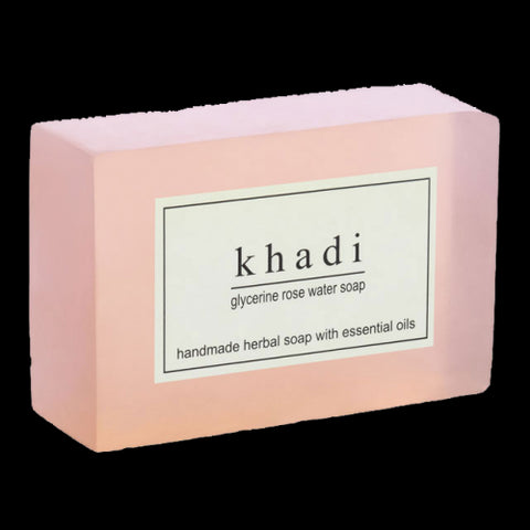 2 x Khadi Rosewater Soap 125 gms each (total of 250 gms) - alldesineeds