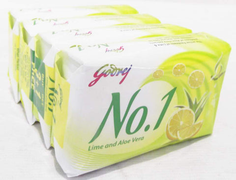 Buy Godrej No. 1 Lime & Aloe Vera 4x100 gms (set of 4 soaps) online for USD 13 at alldesineeds
