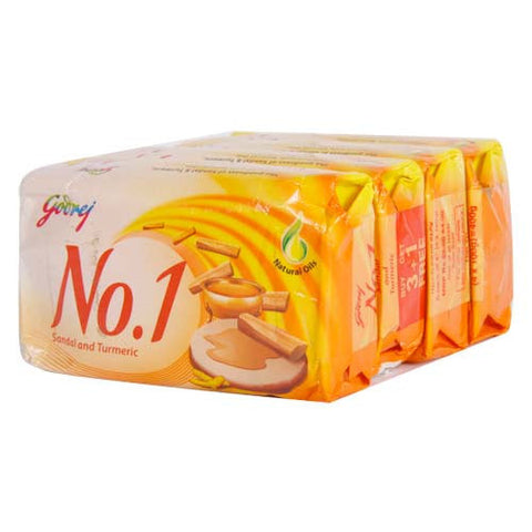Buy Godrej No. 1 Sandal & Turmeric 4x100 gms (set of 4 soaps) online for USD 13 at alldesineeds