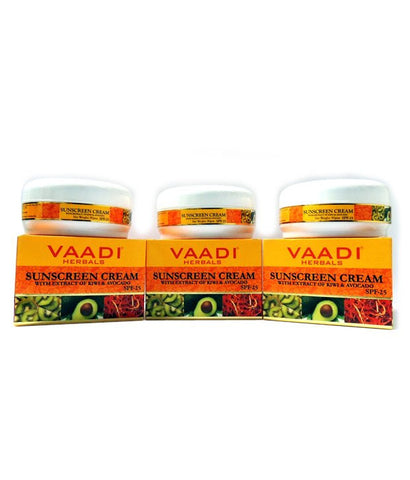 Buy 3 Pack Vaadi Sunscreen Cream SPF 25 90 gms each (Total 270 gms) online for USD 15.5 at alldesineeds