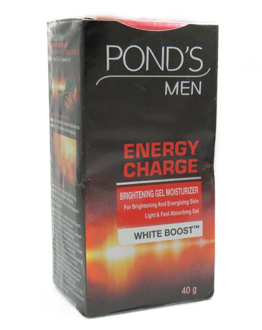 Buy Ponds Men Energy Charge White Boost Brightening Gel Moisturizer 40 gms online for USD 8.99 at alldesineeds