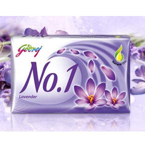 Buy Godrej No. 1 Lavender 4x110 gms (set of 4 soaps) online for USD 17.27 at alldesineeds