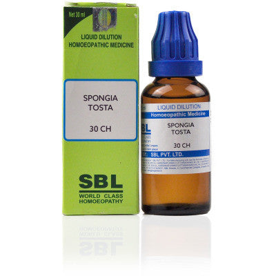 2 x SBL Spongia Tosta 30 CH 30ml each - alldesineeds