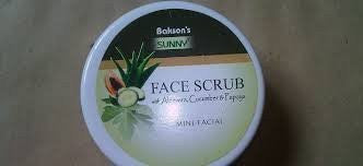 2 pack of Face Scrub Aloevera With Cucumber & Papaya - Baksons Homeopathy - alldesineeds