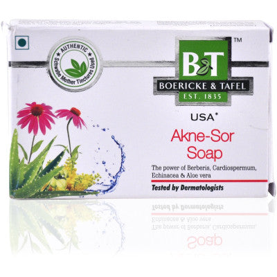 Buy 2 x Willmar Schwabe India B&T Akne - Sor Soap (75g) each online for USD 12.74 at alldesineeds