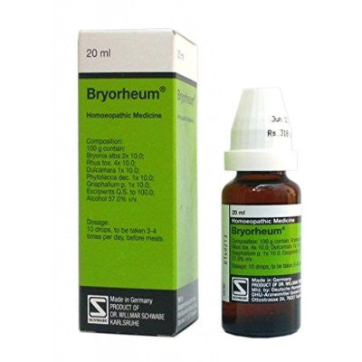 Buy 2 x Willmar Schwabe Germany Bryorheum (20ml) each online for USD 36.06 at alldesineeds
