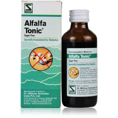 Buy 2 x Willmar Schwabe India Alfalfa Tonic (Diabetic) (100ml) each online for USD 15.74 at alldesineeds