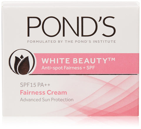 Buy 2 x Pond's White Beauty Anti-spot fairness SPF 15 PA++ Fairness Cream, 35g each online for USD 27.8 at alldesineeds