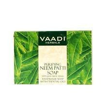 Buy 6 Pack Neem Patti Soap - Contains pure Neem leaves 75 gms each (Total 450 gms) online for USD 22 at alldesineeds