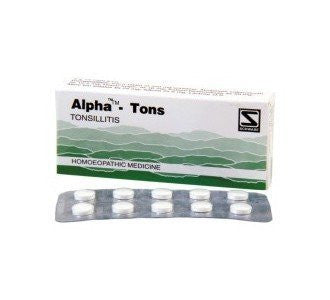 Buy 2 Pack of Alpha Tons tablets for tonsilitis (Total 120 tablets) - Schwabe online for USD 17.85 at alldesineeds