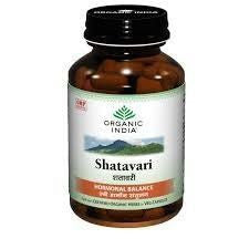 Buy 3 Pack Organic India Shatavari 60 Capsules Bottle (Total 180 Capsules) online for USD 28.27 at alldesineeds
