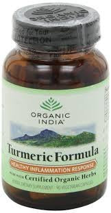 Buy 4 Pack Organic India Turmeric Formula 60 capsules each online for USD 42.13 at alldesineeds
