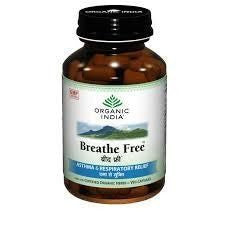Buy 5 Pack Organic India Breathe Free 60 Capsules Bottle (Total 300 Capsules) online for USD 46.09 at alldesineeds