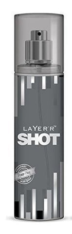 2 X Layer'r Shot Deodrant, Power Play, 135ml - (Pack of 2) - alldesineeds