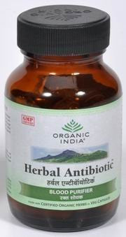 Buy Organic India Herbal Antibiotic 60 Capsules Bottle online for USD 12.28 at alldesineeds