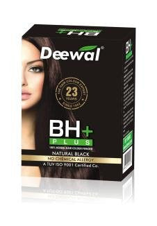 Buy 2 Pack Deewal BH+ Plus Hair Color Unisex (Natural Black-120GMS each) Natural black online for USD 15.5 at alldesineeds
