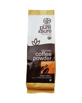 Pure & Sure Organic Coffee Powder SMOOTH 200g - alldesineeds
