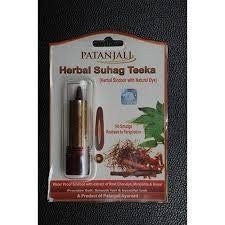 4 Pack Divya Herbal Suhag Teeka 3gms (Total 12 gms) - alldesineeds