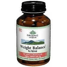 Buy 5 Pack Organic India Weight Balance 60 Capsules Bottle (Total 300 Capsules) online for USD 47.08 at alldesineeds