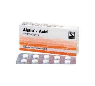 Buy 2 Pack of Alpha Acid for acidity (Total 80 tablets) - Schwabe Homeopathy online for USD 17.85 at alldesineeds