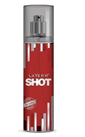 2 X Layer'r Shot Deodrant, Red Stallion, 135ml -(Pack of 2) - alldesineeds