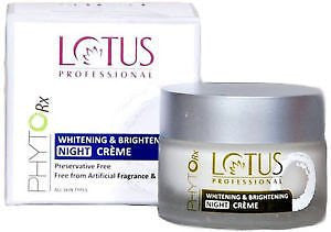 Buy Lotus Professional Phyto- Rx Whitening & Brightening Night Cream 50g online for USD 12.45 at alldesineeds