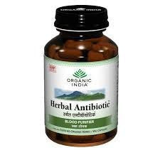 Buy 2 Pack Organic India Herbal Antibiotic 60 Capsules Bottle (Total 120 Capsules) online for USD 23 at alldesineeds