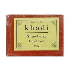 3 Pack Khadi Strawberry Soap 125 gms each (total of 375 gms) - alldesineeds