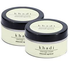 2 x Khadi Almond & Apricot Massage Cream 50 gms each (Total 100 gms) - alldesineeds