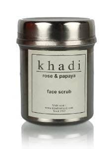 Buy 2 X Khadi Rose and Papaya Face Scrub 50gms each online for USD 25.79 at alldesineeds