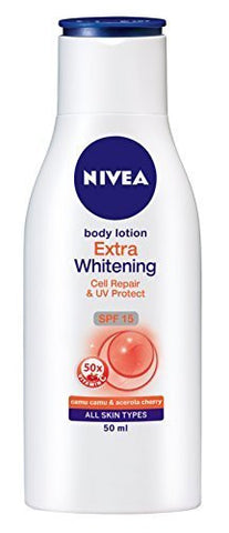 Buy 1 X 50ml - Nivea Body Lotion Extra Whitening Cell Repair & Uv Protect Spf-15 online for USD 13.9 at alldesineeds