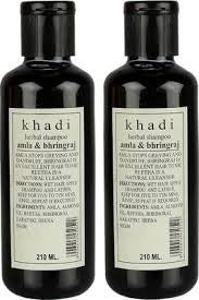 2 Pack Khadi Amla & Bhringraj Shampoo 210 Ml each (total of 420 ml) - alldesineeds