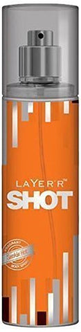 2 X Layer'r Shot Deodrant, Smokin Hot, 135ml - (Pack of 2) - alldesineeds