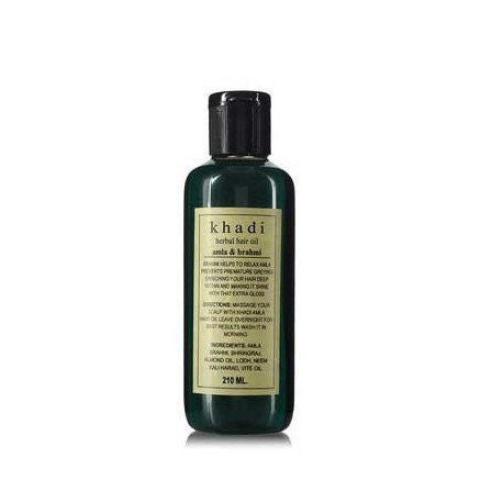 Khadi Amla & Brahmi Hair Oil - 210 ml - alldesineeds