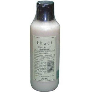 2 x Khadi Sandalwood Kesar Moisturizer 210 ml each (Total 420 ml) - alldesineeds