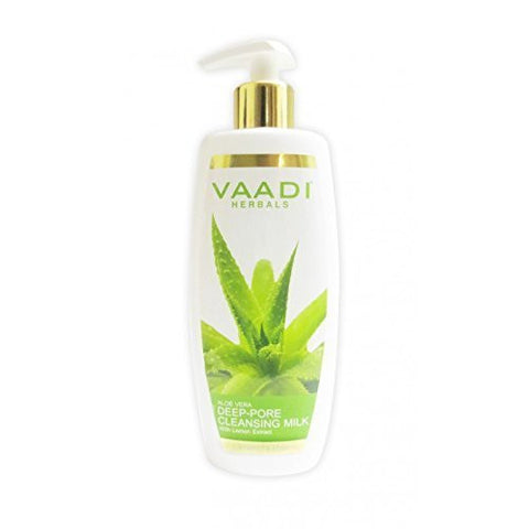 Buy 4 Pack Vaadi ALOEVERA DEEP PORE CLEANSING MILK 110 ml each online for USD 15.99 at alldesineeds