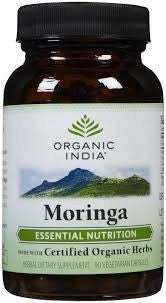Buy 3 Pack Organic India Moringa 60 Capsules (Total 180 capsules) online for USD 28.12 at alldesineeds