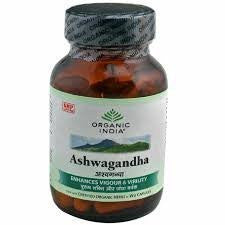 Buy Organic India Ashwagandha (60 Capsules) online for USD 12.24 at alldesineeds
