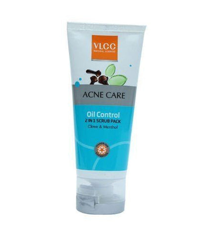 Buy VLCC Acne Care Oil Control 2-in-1 Scrub Pack, 50g X 4 (Pack of 4) online for USD 20.3 at alldesineeds